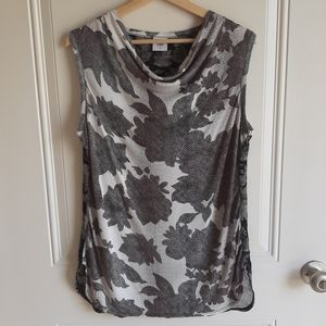 Cabi Floral Cowl Neck Tango Tank Top Size Small